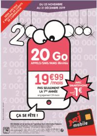 Série spéciale NRJ MOBILE 20 Giga avec mobile jusqu'au 31 Decembre