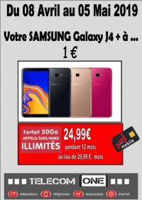 PROMOTION : VOTRE SAMSUNG J4+ A 1€ AVEC LE FORFAIT NRJ MOBILE 50 GO