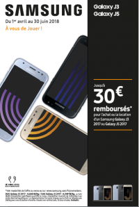 SAMSUNG VOUS OFFRE 30€ SUR VOTRE OU J3 2017 OU J5 2017