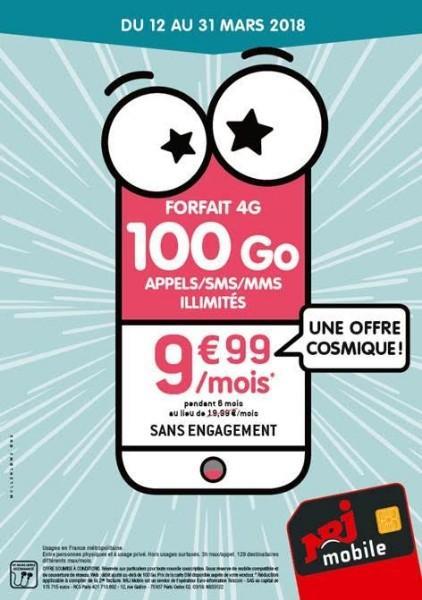 PROMO NRJ  100 GO à 9,99€