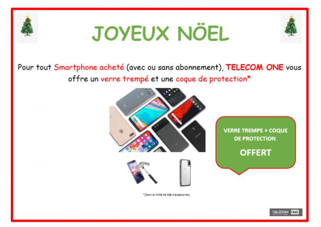 Joyeuses fêtes... 30 euros d'accessoires offerts chez Telecom ONE
